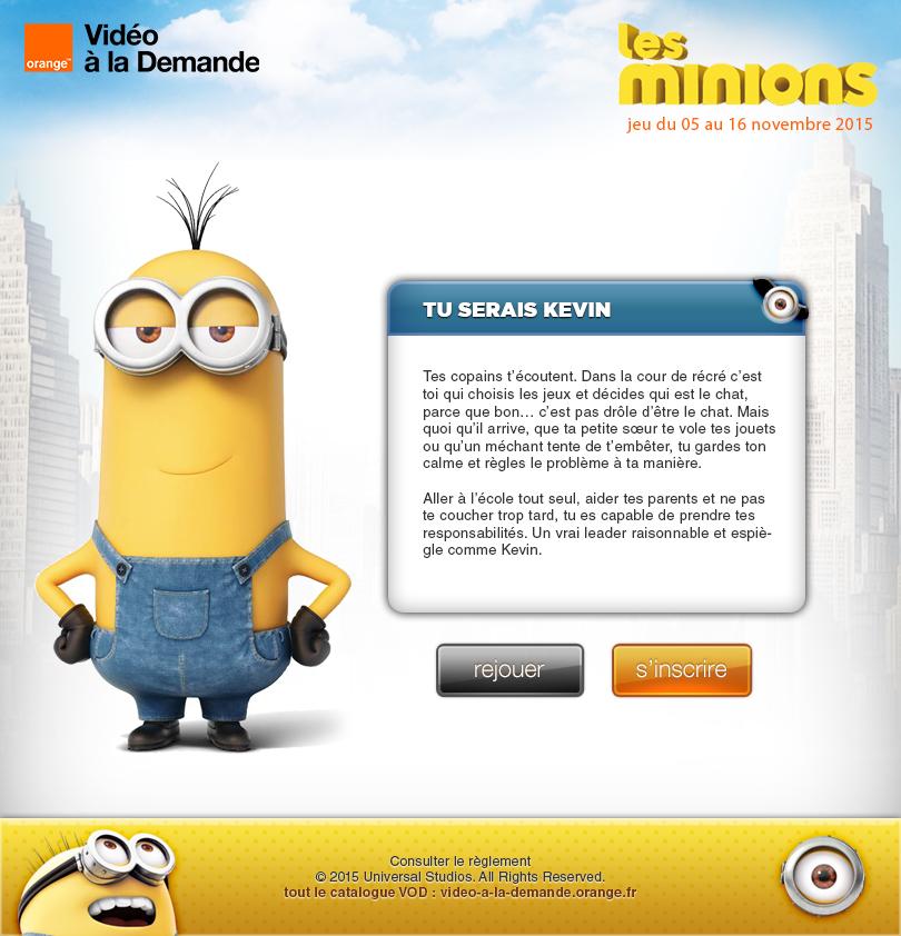 U/X Design Template Les-Minions Facebook App