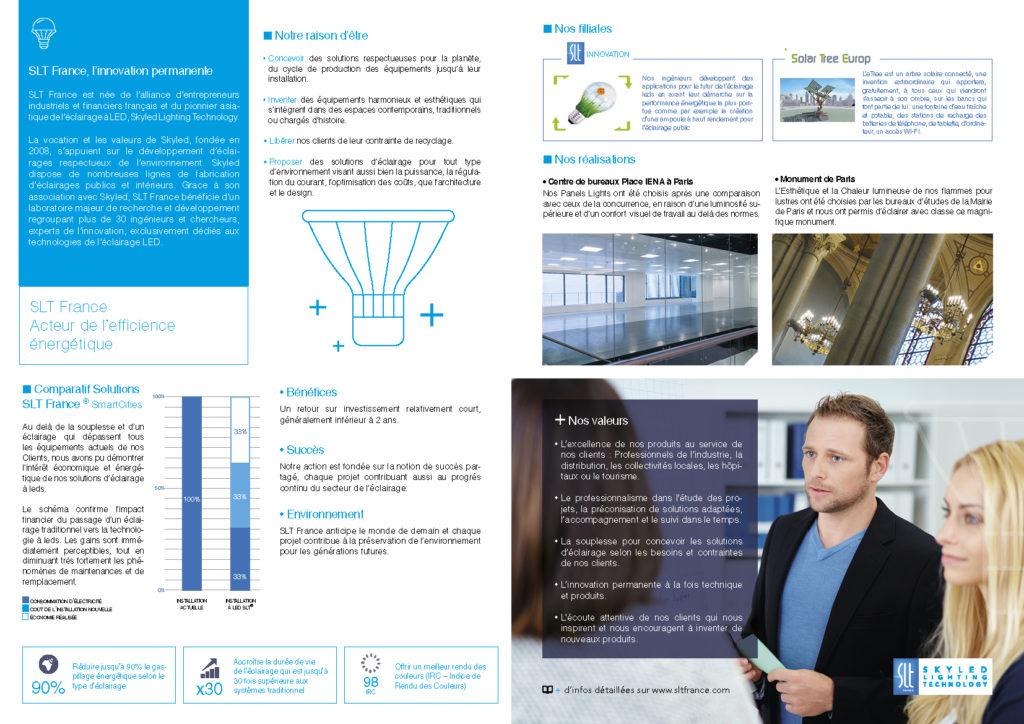 Plaquette Entreprise LED Eclairage - France USA Paris Lagny